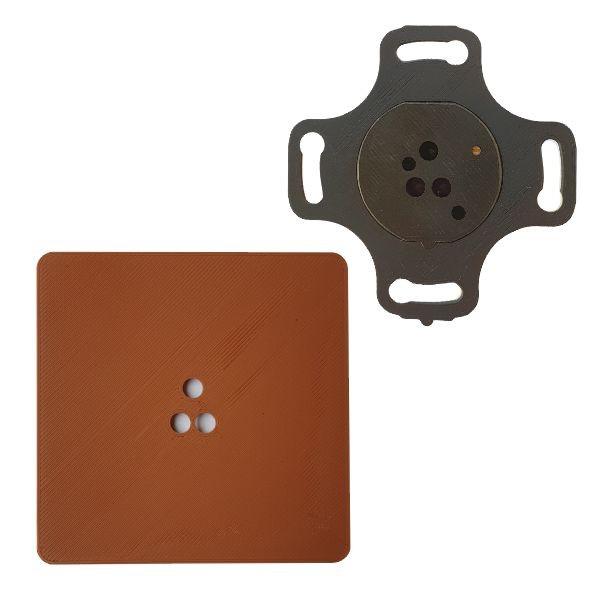 Adapter do puszek elektrycznych fi 60mm czujników ruchu ALFA i DELTA smartLEDs - kolor brązowy