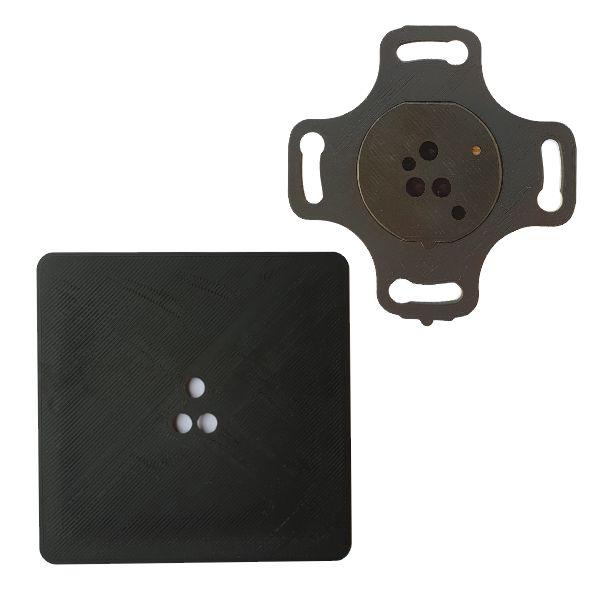 Adapter do puszek elektrycznych fi 60mm czujników ruchu ALFA i DELTA smartLEDs - kolor czarny