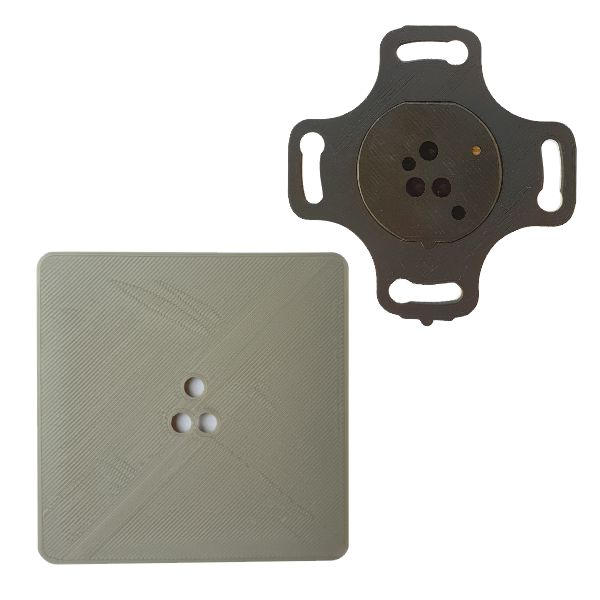 Adapter do puszek elektrycznych fi 60mm czujników ruchu ALFA i DELTA smartLEDs - kolor szary